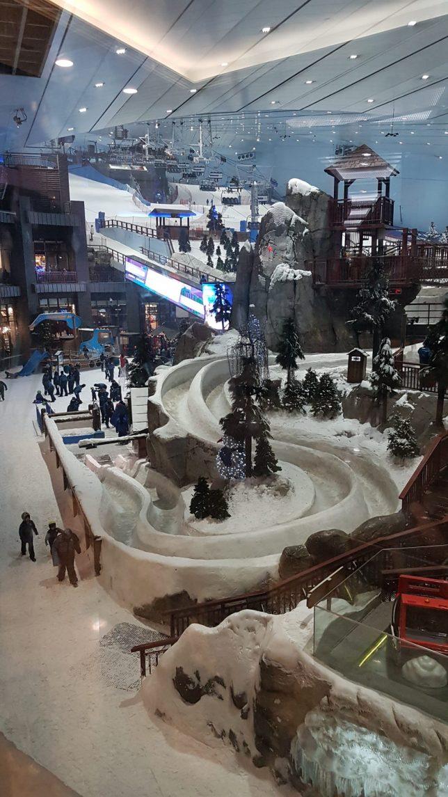 lyziarsky svah Mall of Emirates