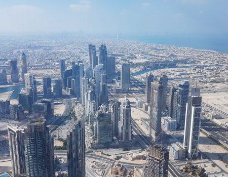 výhľad zo 124 poschodia Burjh Khalifa