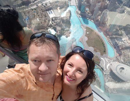 výhľad zo 124 poschodia Burj Khalifa